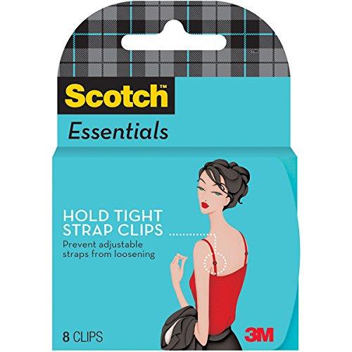 Scotch - Scotch Essentials Hold Tight Strap Clips, Translucent, 4 Pair (W-123-A)