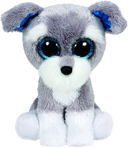 Ty Beanie Boos - Ty Beanie Boos Whiskers The Grey Schnauzer Dog Plush