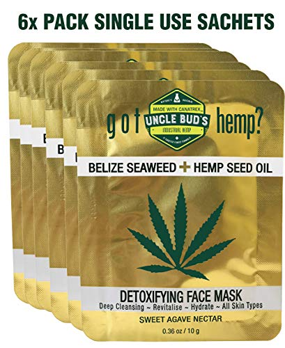 Uncle Bud's - Belize Seaweed Detoxifying Face Mask with Pure Hemp Seed Oil – 6 Pack Bundle