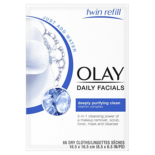 Olay - Olay Daily Facial Makeup Remover Wipes & 4-In-1 Water Activated Facial Cleanser Cloths, Deeply Clean 66 Count