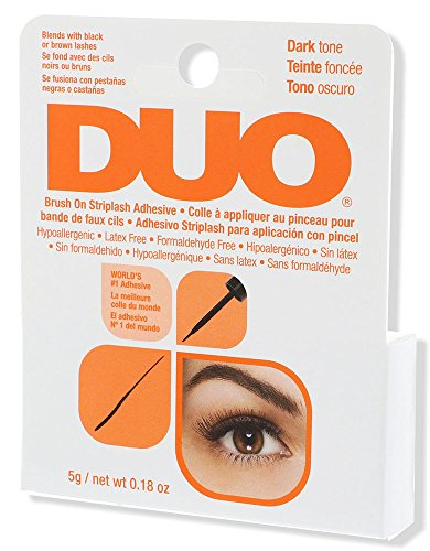 DUO - DUO Brush-On StripLash Adhesive, Dark, Hypoallergenic, Latex & Formaldehyde Free, 0.18 oz