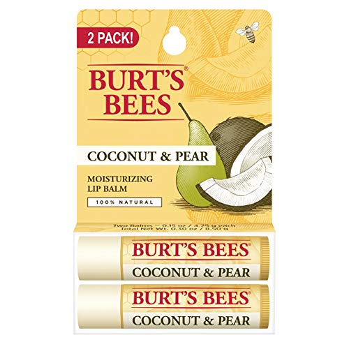 Burt's Bees - Burt's Bees 100% Natural Moisturizing Lip Balm, Coconut & Pear with Beeswax & Fruit Extracts - 2 Tubes