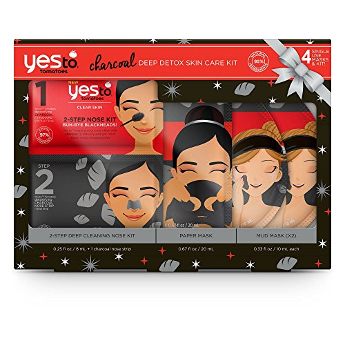 Yes To - Yes To Tomatoes Charcoal Deep Detox Skin Care Kit, pack of 1