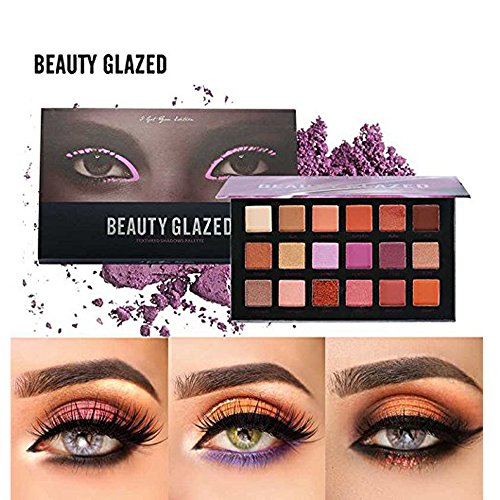 Beauty Glazed - Beauty Glazed Eyeshadow Palette 18 Colors Eye Shadow Powder Make Up Waterproof Eye Shadow Palette Cosmetics