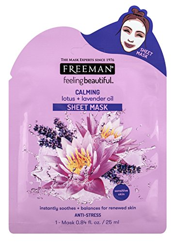 PH Beauty-Freeman - Freeman Facial Lotus+Lavendar Oil Calming Sheet Mask (6 Pieces)