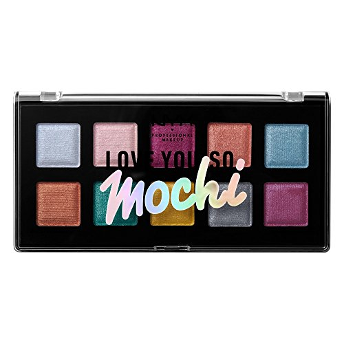 NYX - NYX PROFESSIONAL MAKEUP Love You so Mochi Eyeshadow Palette, Electric Pastels, 0.46 Ounce