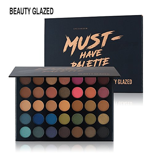 Beauty Glazed - NEW Beauty Glazed Eyeshadow Palette 35 Colors Matte Shimmer Eyeshadow Palette Waterproof Powder Natural Pigmented Nude Naked Smokey Professional Cosmetic