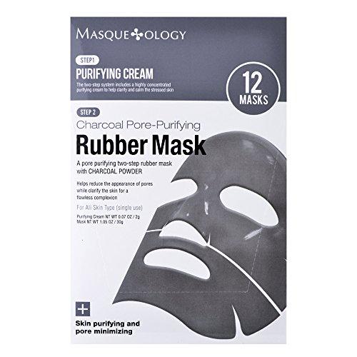 Masqueology Masqueology Charcoal Pore-Purifying Rubber Mask, 12 ct.