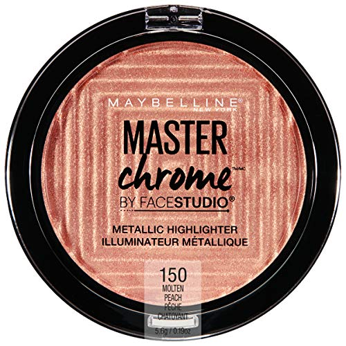 Maybelline New York - Maybelline New York Facestudio Master Chrome Metallic Highlighter Makeup, Molten Peach, 0.19 oz.