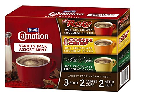Econobum Nestle Carnation Hot Chocolate Variety Pack Rolo, Coffee Crisp, After Eight, 7-Count Box
