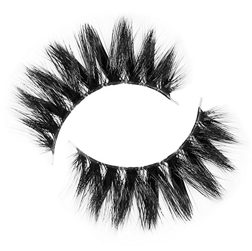 Lilly Lashes - Lilly Lashes 3D Mykonos in Faux Mink | False Eyelashes | Dramatic Look and Feel | Reusable | Non-Magnetic | 100% Handmade, Cruelty-Free, Vegan | Silk Like Luxury Fibers