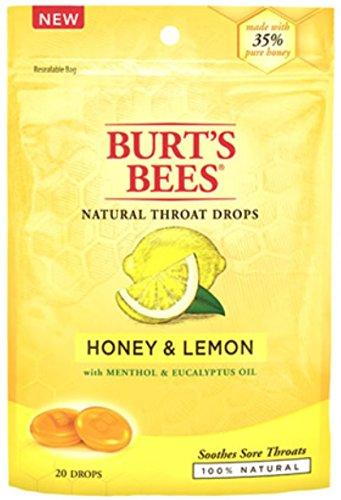 Burt's Bees - Burt's Bees Natural Throat Drops, Honey & Lemon 20 ea (Pack of 2)
