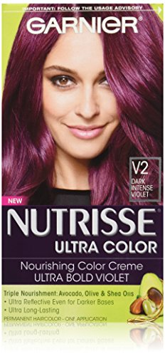 Garnier - Garnier Nutrisse Ultra Color Nourishing Hair Color Creme, V2 Dark Intense Violet (Packaging May Vary)