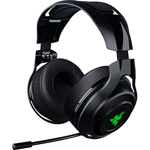 Razer - RAZER MANO'WAR: Wireless 7.1 Surround Sound - 2.4 GHz Wireless Technology - Quick Action Controls - Unidirectional Retractable Mic - Gaming Headset Works with PC, PS4, & Xbox One