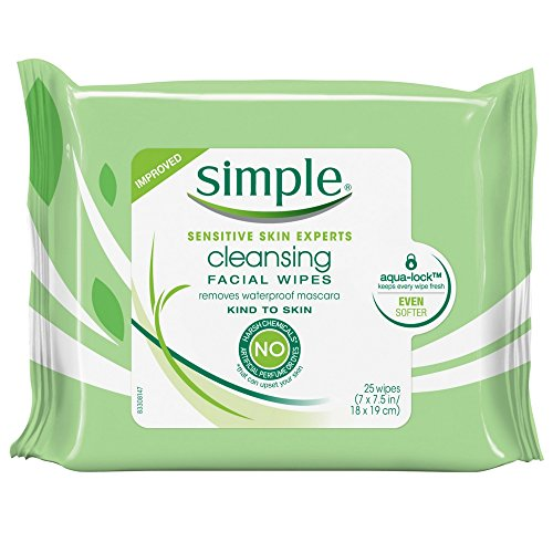 Simple - Simple Cleansing Facial Wipes 25 Each (Pack of 10)