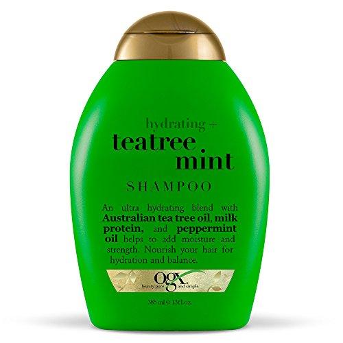 OGX - OGX Hydrating TeaTree Mint Shampoo, 13 Ounce Bottle, Moisturizing Shampoo Infused with Australian Tea Tree Oils,   Sulfate-Free