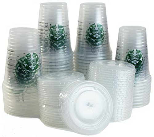 Starbucks - Starbucks Clear Disposable Cold Beverage Cup, 16 Ounce, and Lids (Pack of 50 each)