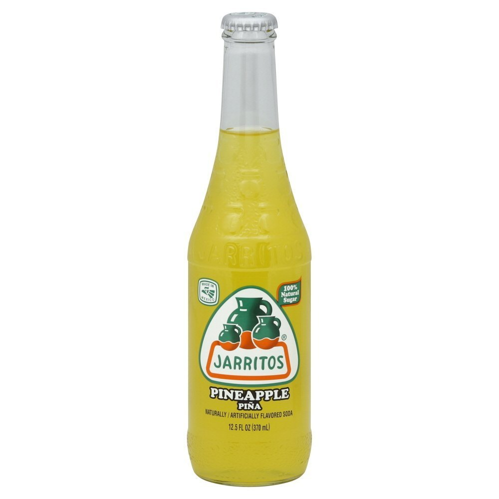 Jarritos Jarritos Mexican Soda, 12.5 Oz Glass Bottle (Pack of 4) (Pineapple (Pina))