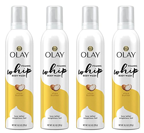 Olay - Olay Shea Butter Scent Foaming Whip Body Wash for Women, 10.3 Fluid Ounce (Pack of 4)
