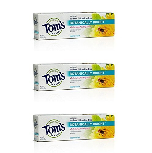 Tom's of Maine - Tom's Of Maine Botanically Bright SLS-free Whitening Paste Peppermint Peppermint 4.7 Ounce (Pack of 3)