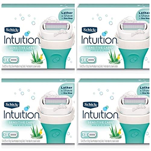 Schick - NEW Schick Intuition Sensitive Care Moisturizing Razor Blade Refills for Women with Natural Aloe 12 Count