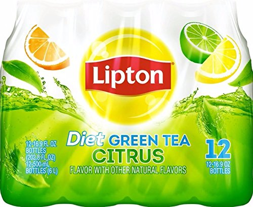 Lipton Diet Lipton Green Tea, Citrus (12 Count, 16.9 Fl Oz Each)