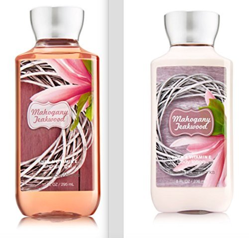 Bath and Body Works - Bath and Body Works Mahogany Teakwood Body Lotion and Shower Gel Set