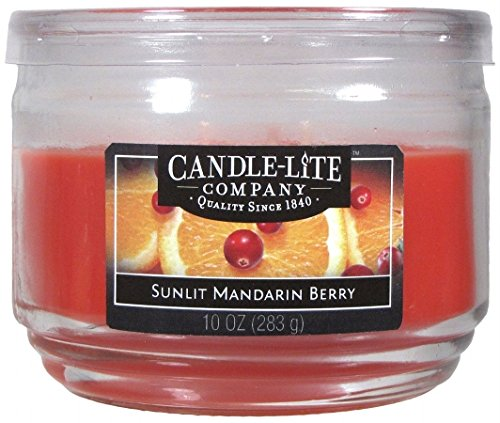 Candle-Lite Everyday - Candle-Lite Everyday Scented Sunlit Mandarin Berry 3-Wick Jar Candle, 10 oz, Orange