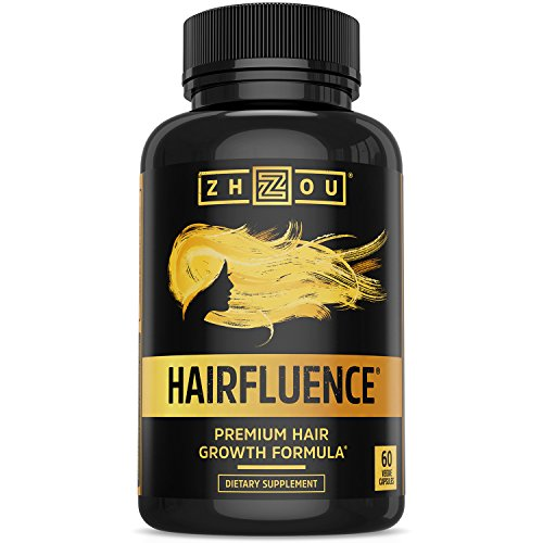 Zhou Nutrition - HAIRFLUENCE - Hair Growth Formula For Longer, Stronger, Healthier Hair - Scientifically Formulated with Biotin, Keratin, Bamboo & More! - For All Hair Types - Veggie Capsules
