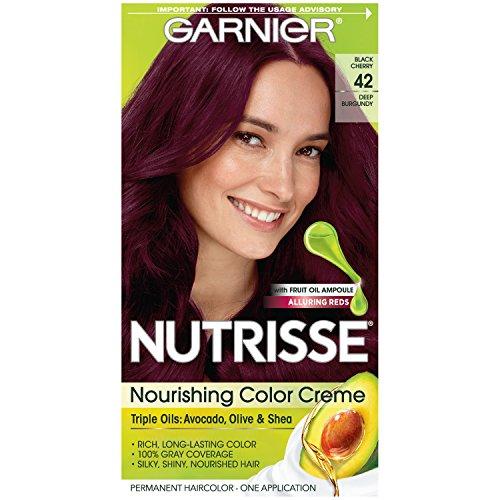 Garnier - Garnier Nutrisse Nourishing Hair Color Creme, 42 Deep Burgundy (Black Cherry)  (Packaging May Vary)