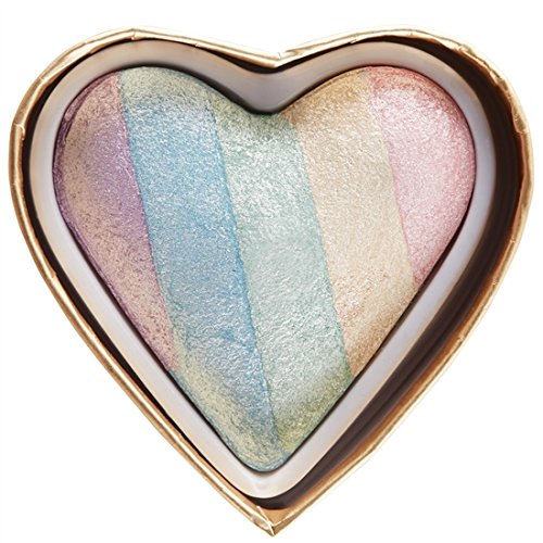 Makeup Revolution - Unicorn Heart Blushing Hearts Triple Baked Rainbow Highlighter