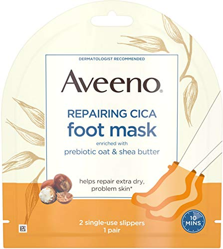 Aveeno - Repairing CICA Foot Mask with Prebiotic Oat and Shea Butter