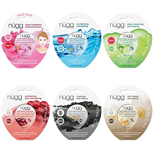 NUGG - nügg Face Mask Combo Pack of 6 Gel Face Masks; for all Skin Types