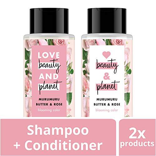 Love Beauty And Planet - Love Beauty and Planet Blooming Color Shampoo and Conditioner, Murumuru Butter, Sugar & Rose, 13.5 oz, 2 count