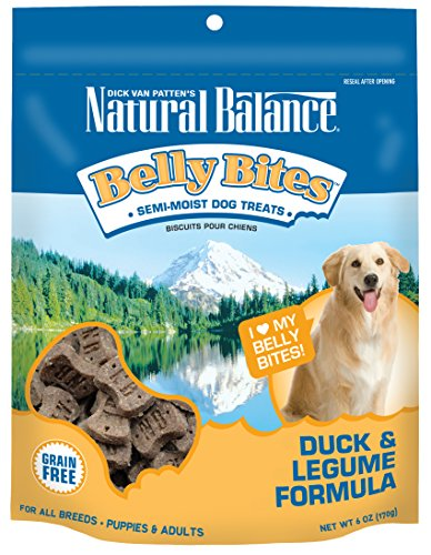 Natural Balance - Natural Balance Belly Bites Grain Free Dog Treats, Duck & Legume Formula, 6-Ounce
