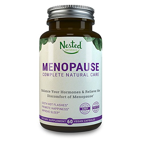 Nested Naturals - MENOPAUSE CARE Complete Complex | 60 Vegan Capsules | Naturally Sourced Black Cohosh Extract 40mg & Dong Quai Root | Mood Swings & Hot Flashes Relief Linked to Menopause | One A Day Womens Supplements