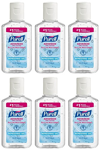 Purell - Purell Advanced Hand Sanitizer Refreshing Gel, 1 Fl oz (6-Pack)