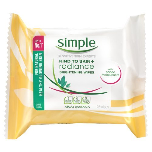 null - Simple Daily Radiance Cleansing Wipes - 25-Pack