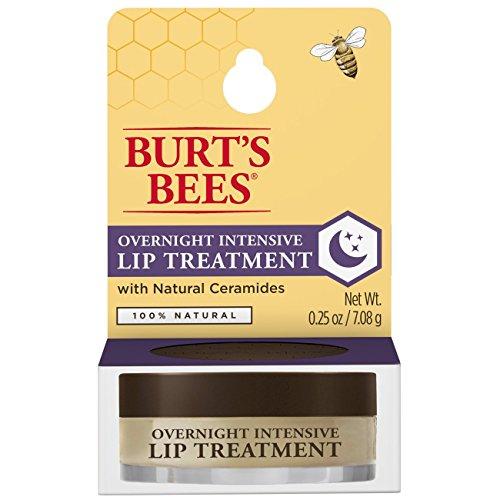 Burt's Bees - Burt's Bees 100% Natural Overnight Intensive Lip Treatment, Ultra-Conditioning Lip Care - 0.25 ounce