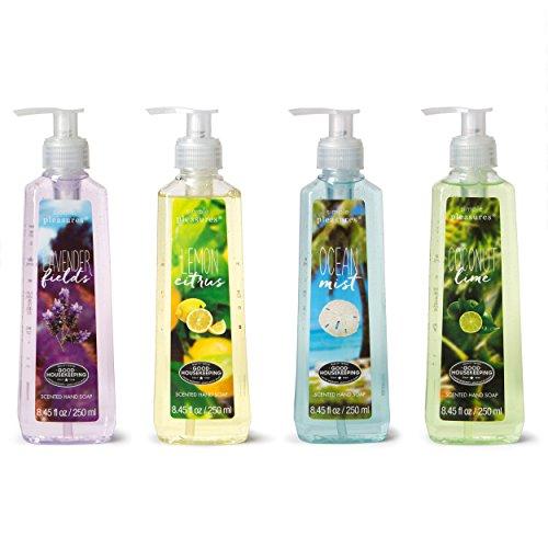 Tri-coastal Design - Tri-coastal Design Liquid Hand Soap Pack Simple Pleasures Scented Hand Soaps - Lavender Fields, Lemon Citrus, Ocean Mist, Coconut Lime