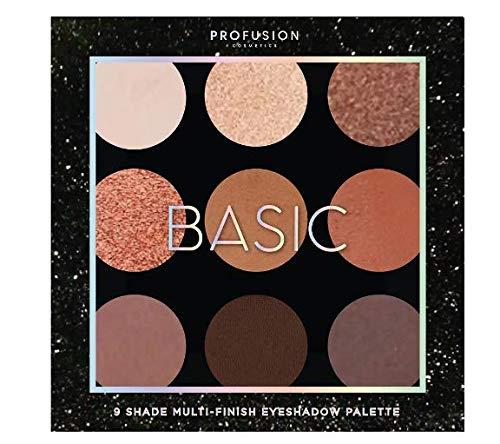 Profusion Cosmetics - 9 Shade Eyeshadow Palette, Basic