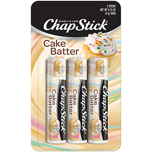 Chapstick - ChapStick Classic (3 Sticks) Cake Batter Flavor Skin Protectant Flavored Lip Balm Tube, Limited Edition, 0.15 Ounce Each