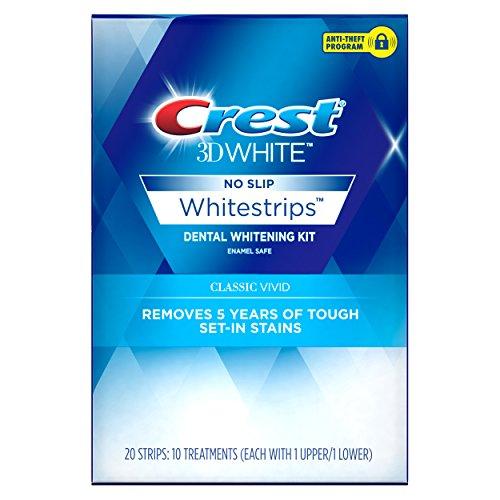 Crest Crest 3D White Whitestrips Classic Vivid Teeth Whitening Kit, 10 Treatments