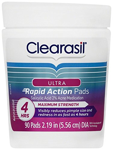 Clearasil - Clearasil Ultra Rapid Action Pads - 0.46 oz - 90 ct