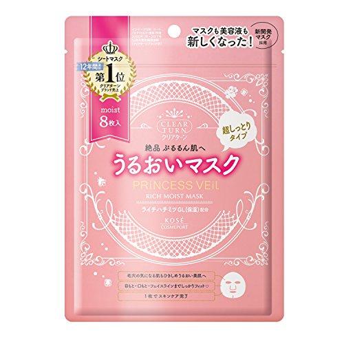 null -  Kose Clear Turn Princess Veil rittimoisuto Mask 8Piece