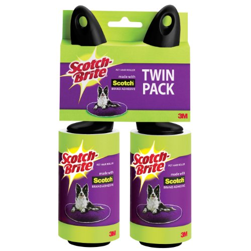 Scotch-Brite - Scotch-Brite Pet Hair Roller, Twin Pack, 56-Sheets/Roller (112 Sheets Total)