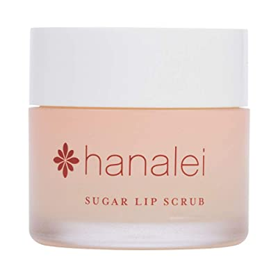 null - Sugar Lip Scrub by Hanalei Company, Made with Raw Cane Sugar and Real Hawaiian Kukui Nut Oil, 22g (Cruelty free, Paraben free) MADE IN USA