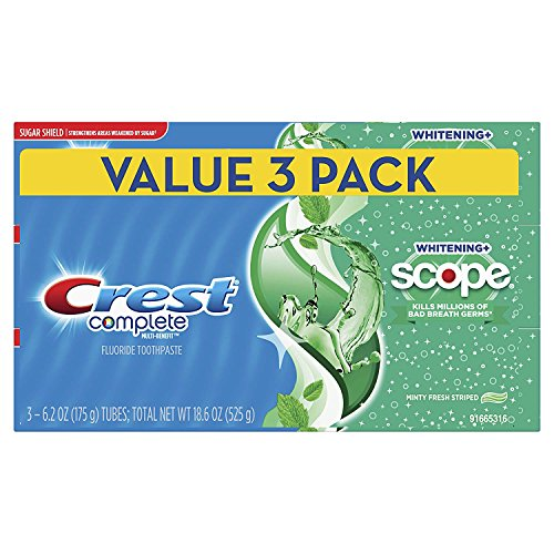 Crest - Crest Complete Whitening + Scope Toothpaste, Minty Fresh, 6.2 oz Triple pack