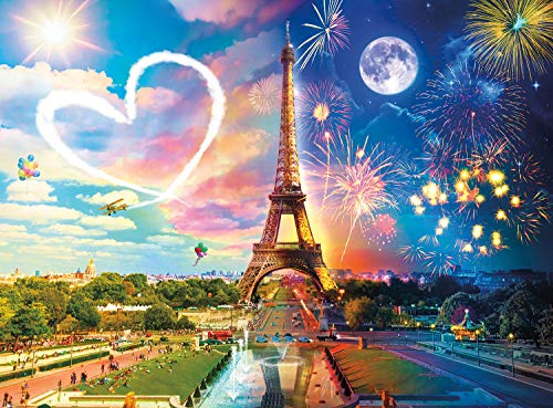 Buffalo Games - Buffalo Games - Night & Day Collection - Paris Love - 1000 Piece Jigsaw Puzzle