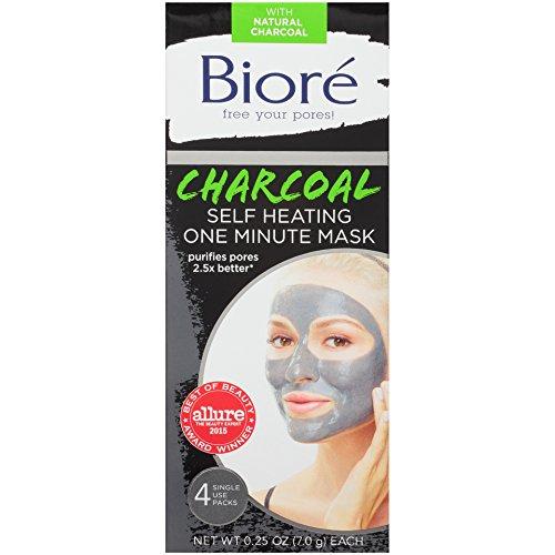 Bioré - Charcoal Self-Heating One Minute Mask